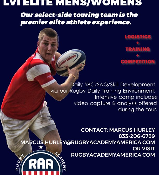 RUGBY ACADEMY OF AMERICA OPENS REGISTRATION FOR MENS, WOMENS LAS VEGAS ELITE TEAMS