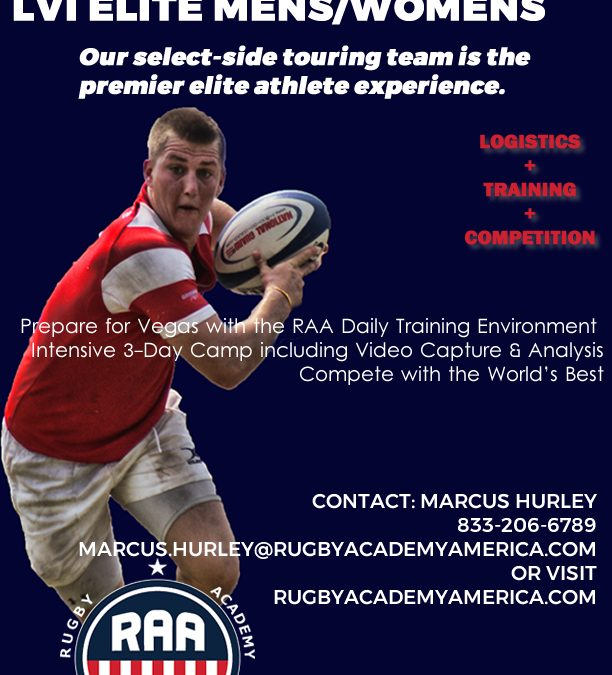 Rugby Academy of America announces Las Vegas Invitational Elite Team registration.